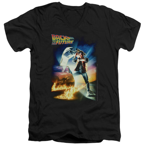 Back To The Future - Poster Short Sleeve Adult V Neck