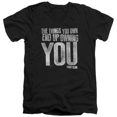Fight Club - Owning You Short Sleeve Adult V Neck - Punchy