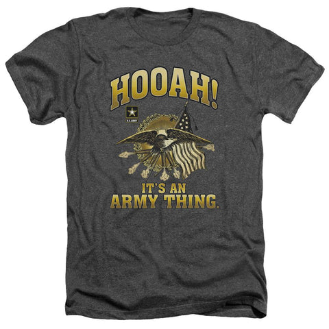 Army - Hooah Adult Heather - Punchy