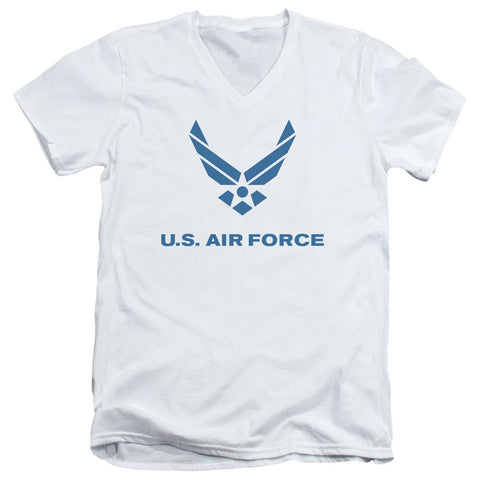 Air Force - Distressed Logo Short Sleeve Adult V Neck - Punchy