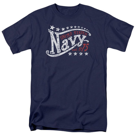 Navy - Stars Short Sleeve Adult 18/1 - Punchy