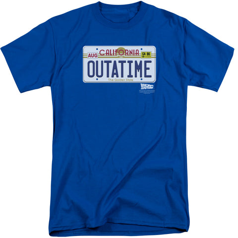 Back To The Future - Outatime Plate Short Sleeve Adult Tall