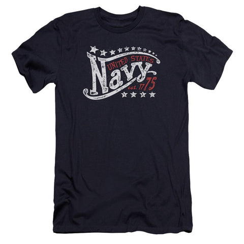 Navy - Stars Premium Canvas Adult Slim Fit 30/1 - Punchy