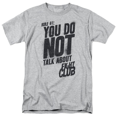 Fight Club - Rule 1 Short Sleeve Adult 18/1 - Punchy