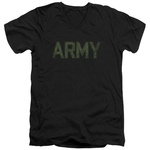Army - Type Short Sleeve Adult V Neck - Punchy