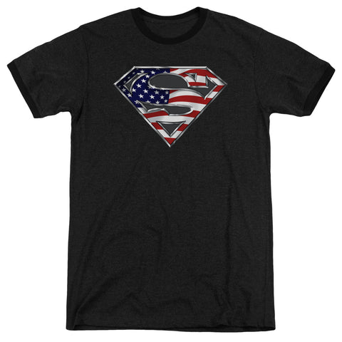 Superman - All American Shield Adult Heather