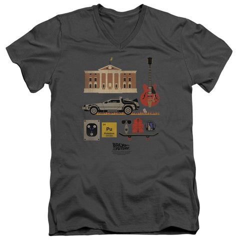 Back To The Future - Items Short Sleeve Adult V Neck