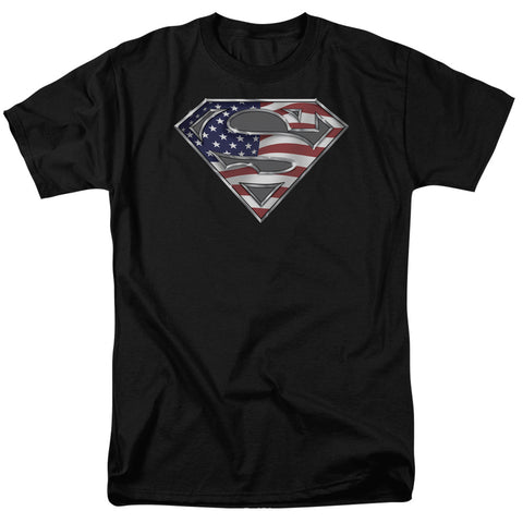 Superman - All American Shield Short Sleeve Adult 18/1