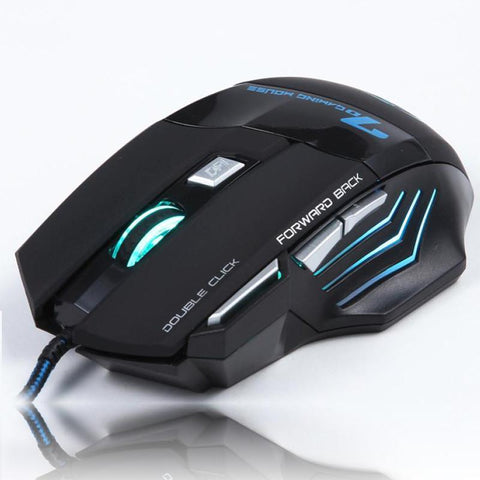 7 Buttons USB Wired Optical Gaming Mouse - Punchy