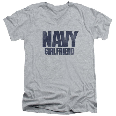 Navy - Girlfriend Short Sleeve Adult V Neck - Punchy