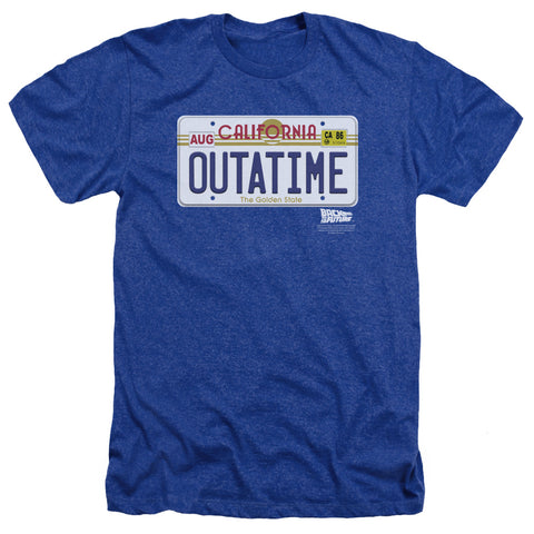 Back To The Future - Outatime Plate Adult Heather