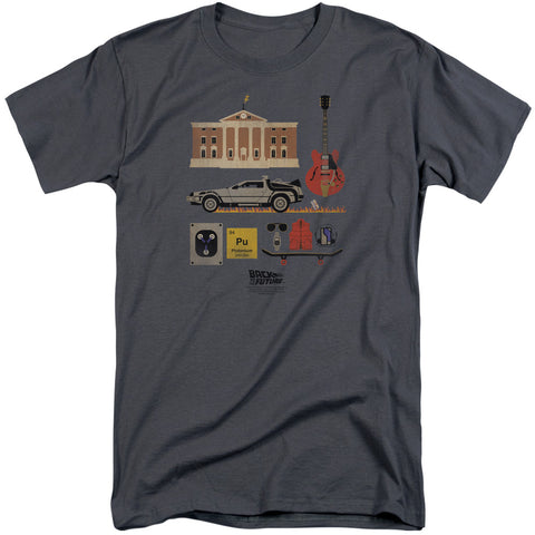 Back To The Future - Items Short Sleeve Adult Tall