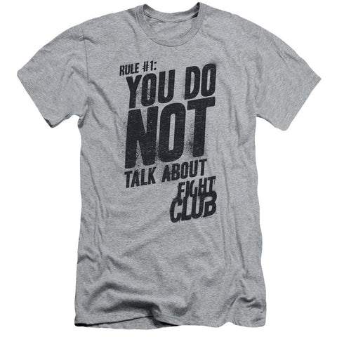 Fight Club - Rule 1 Short Sleeve Adult 30/1 - Punchy
