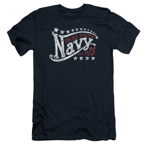 Navy - Stars Short Sleeve Adult 30/1 - Punchy