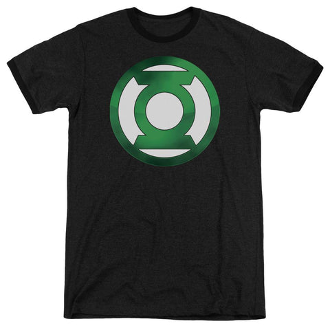 Green Lantern - Green Chrome Logo Adult Heather - Punchy
