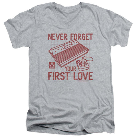 Atari - First Love Short Sleeve Adult V Neck - Punchy