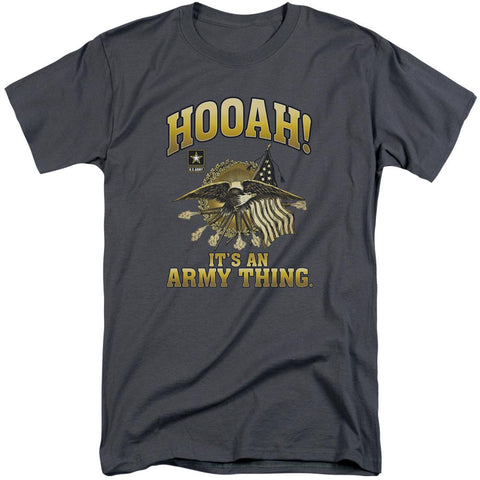 Army - Hooah Short Sleeve Adult Tall - Punchy