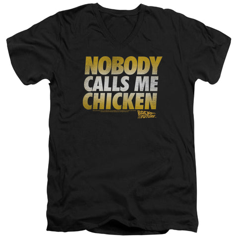 Back To The Future - Chicken Short Sleeve Adult V Neck