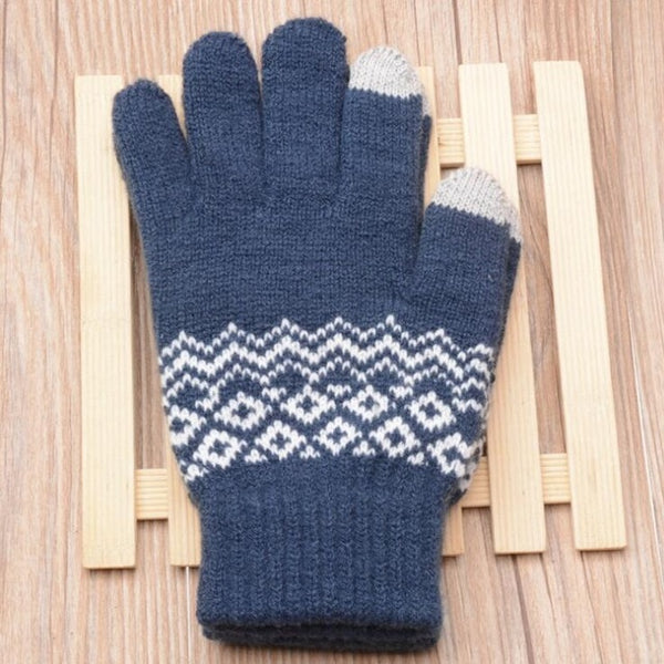 Winter Warm thick touch screen gloves Women's Cashmere wool Knitted Gloves Solid Mittens for Mobile Phone Tablet Pad