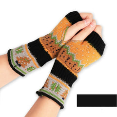 Christmas Knitted Arm Fingerless Warmer Gloves Winter Gloves Unisex Soft Warm Mitten Luvas De Inverno Male Guantes Mujer Eldiven