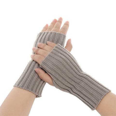 1 Pair Fashion Autumn Winter Spring Warm Women Ladies Girl Solid Gloves Arm Warmer Long Fingerless Xmas Knitting Wool Mittens