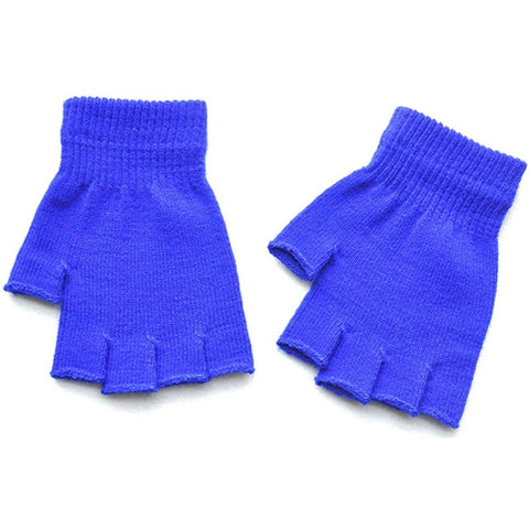 Women Men Fingerless Gloves Solid Color Half Finger Knitted Mittens 2019 Winter Soft Warmer Unisex Basic Female Gloves Guantes