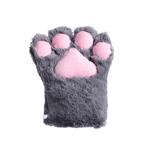 Women Girls Cute Bear Cat Paw Gloves Winter Warm Thick Fluffy Plush Cartoon Animal Anime Lolita Cosplay Mittens