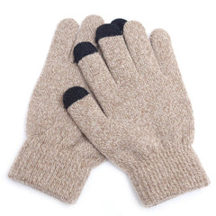 Winter Touch Screen Gloves Women Men Warm Stretch Knit Mittens Imitation Wool Full Finger Guantes Female Crochet Luvas Thicken