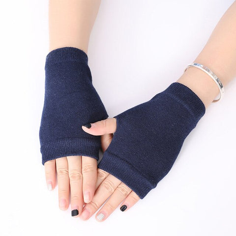 Women Men Stylish Hand Warmer Winter Gloves Women Arm Crochet Knitting Cotton Mitten Warm Fingerless Gloves Gants Femme