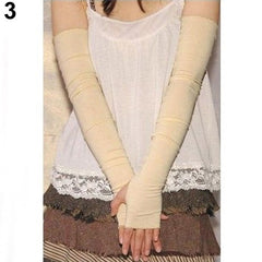 Women's Cotton UV Protection Arm Warmer 2pcs Summer Arm Sleeves Women Men  Anti UV Armwarmer Long Fingerless Gloves Arm Sleeves