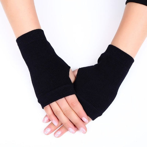 1 Pair Winter Gloves Female Fingerless Gloves Without Fingers Women Cashmere Warm Winter Gloves Hand Wrist Warmer Mittens