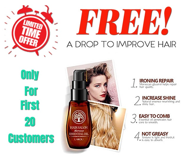** PROMO FREE! ** Pure Argan Essential Skin Hair Oil