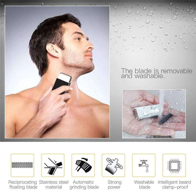 Portable Credit Card Size USB Charging Men's Hair Trimmer Shaver - HealthyHair.online