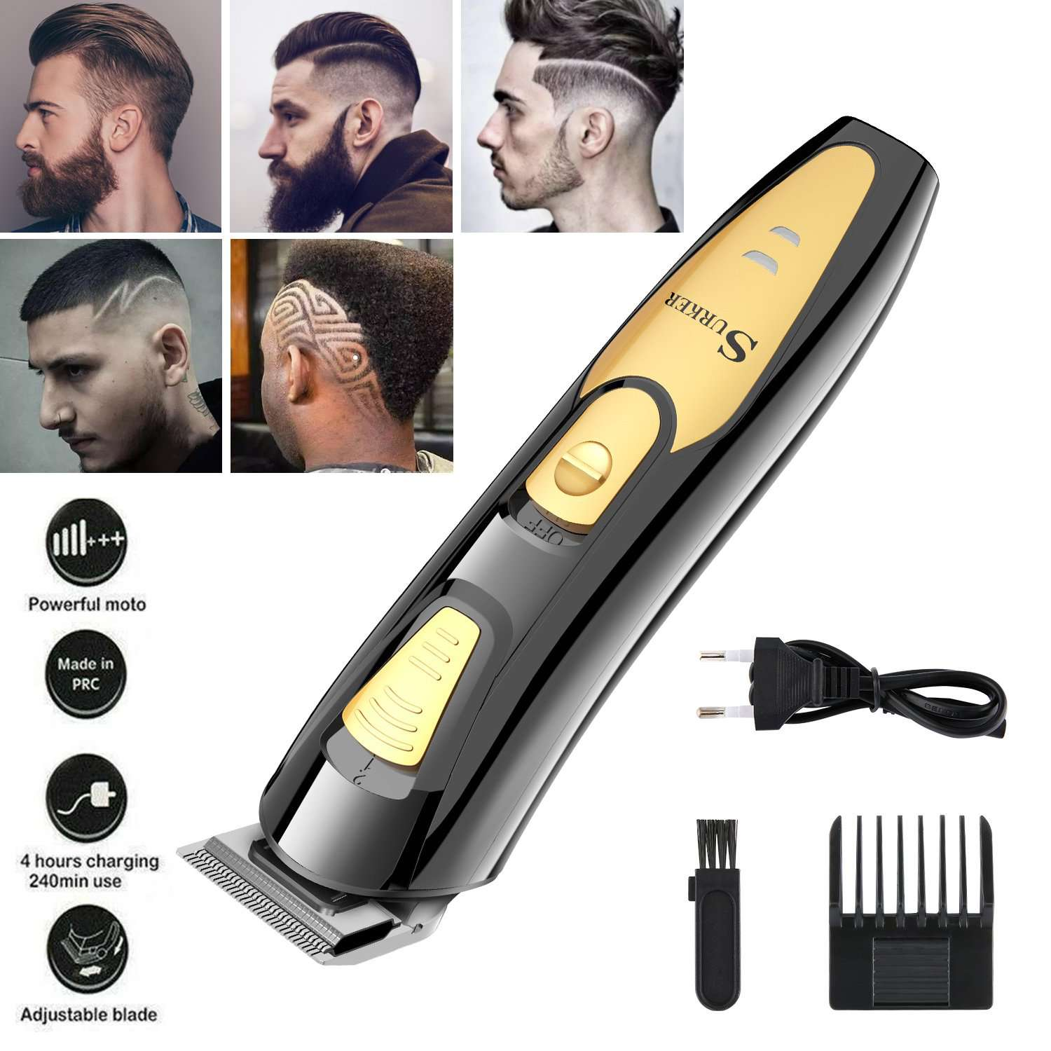 Professional SURKER Electric Hair Clipper For Men - HealthyHair.online