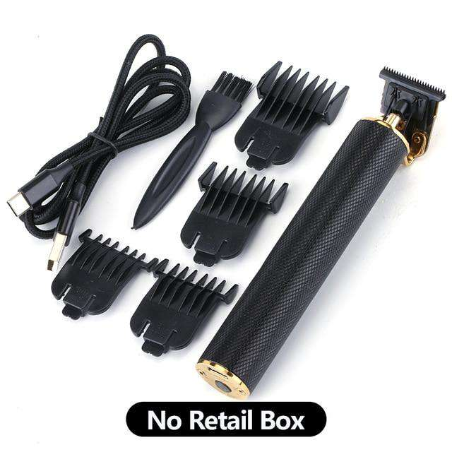USB Rechargeable Close Cutting Hair Beard Trimmer Clipper - Black - HealthyHair.online