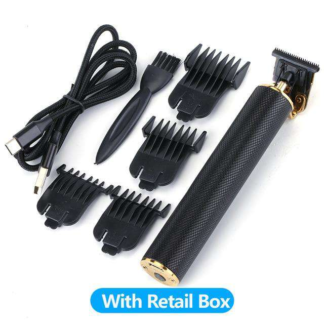 USB Rechargeable Close Cutting Hair Beard Trimmer Clipper - Black, Boxed - HealthyHair.online