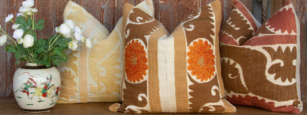 Antique Suzani Pillows (18 x 18)