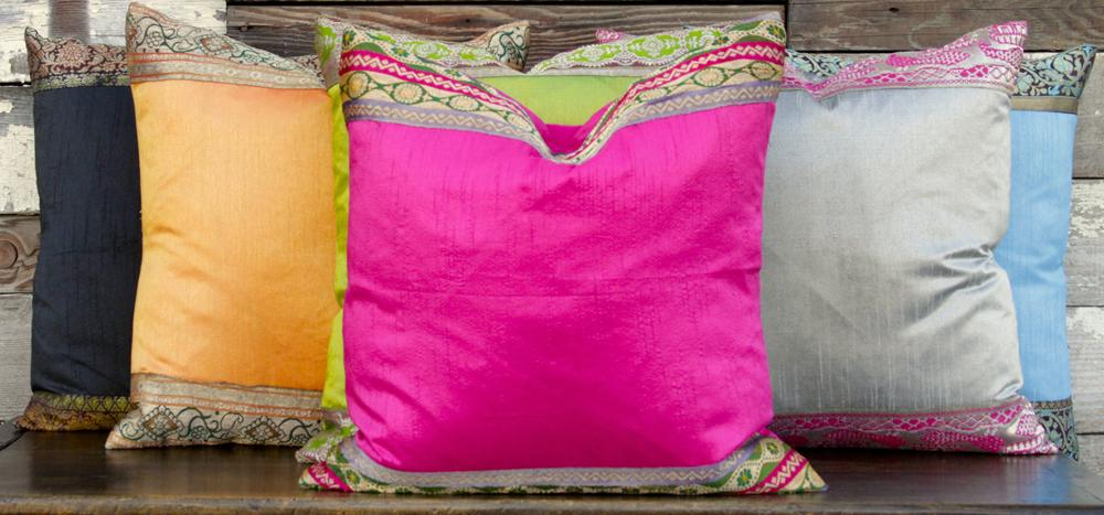 Small Heritage Silk Pillow