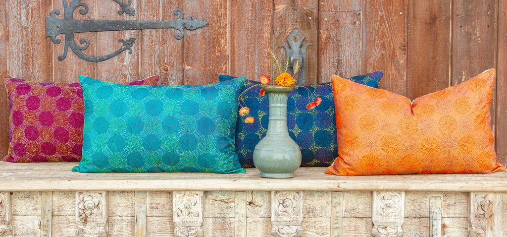 Bengal Kantha Pillow