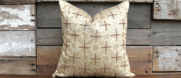 Gold Ornament Kasoti Pillow