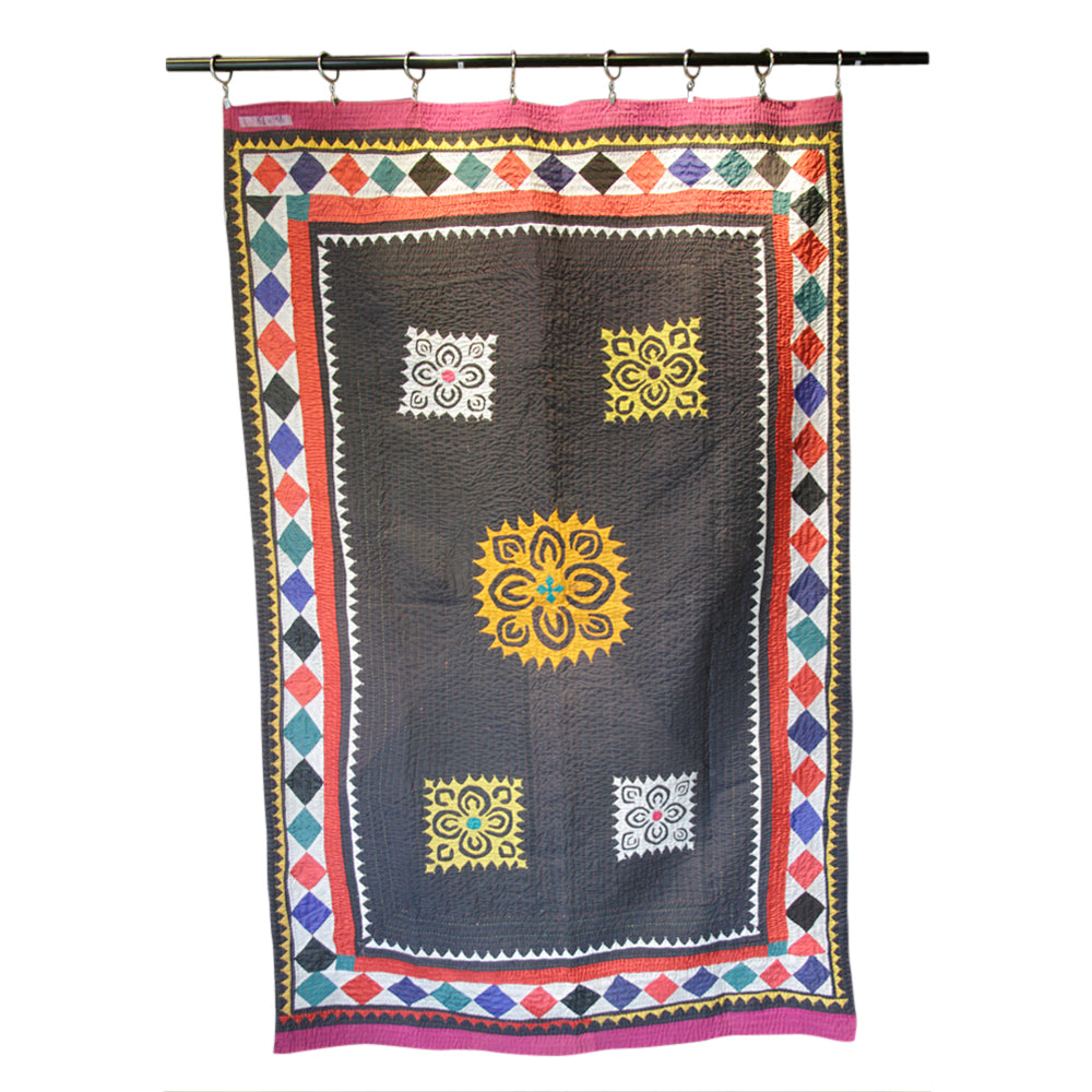 Antique Applique Chandwa Patch Tapestry
