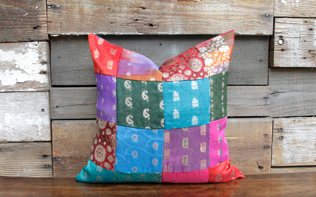 Brocade Mosaic Pillow