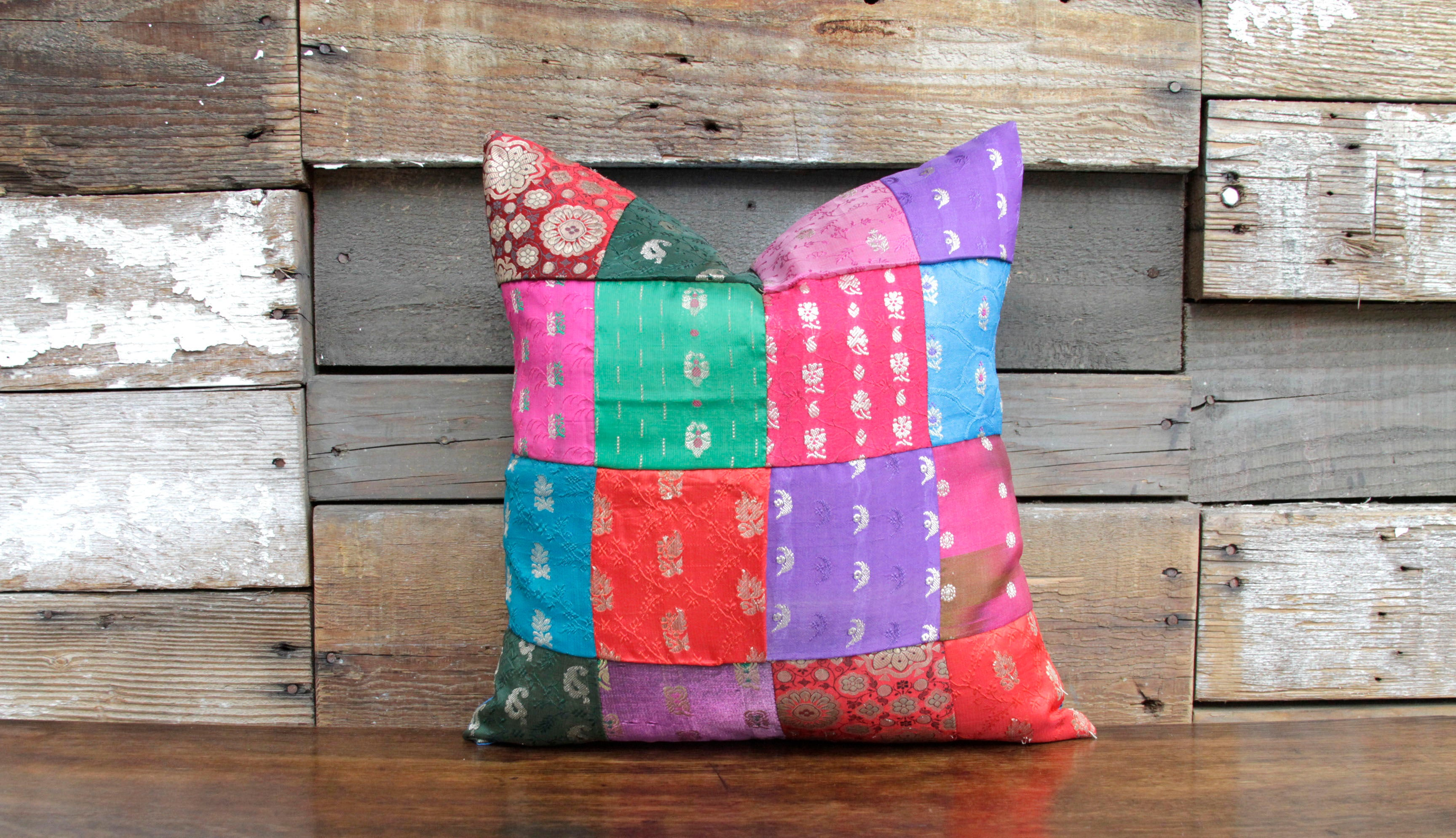 Bold Brocade Mosaic Pillow
