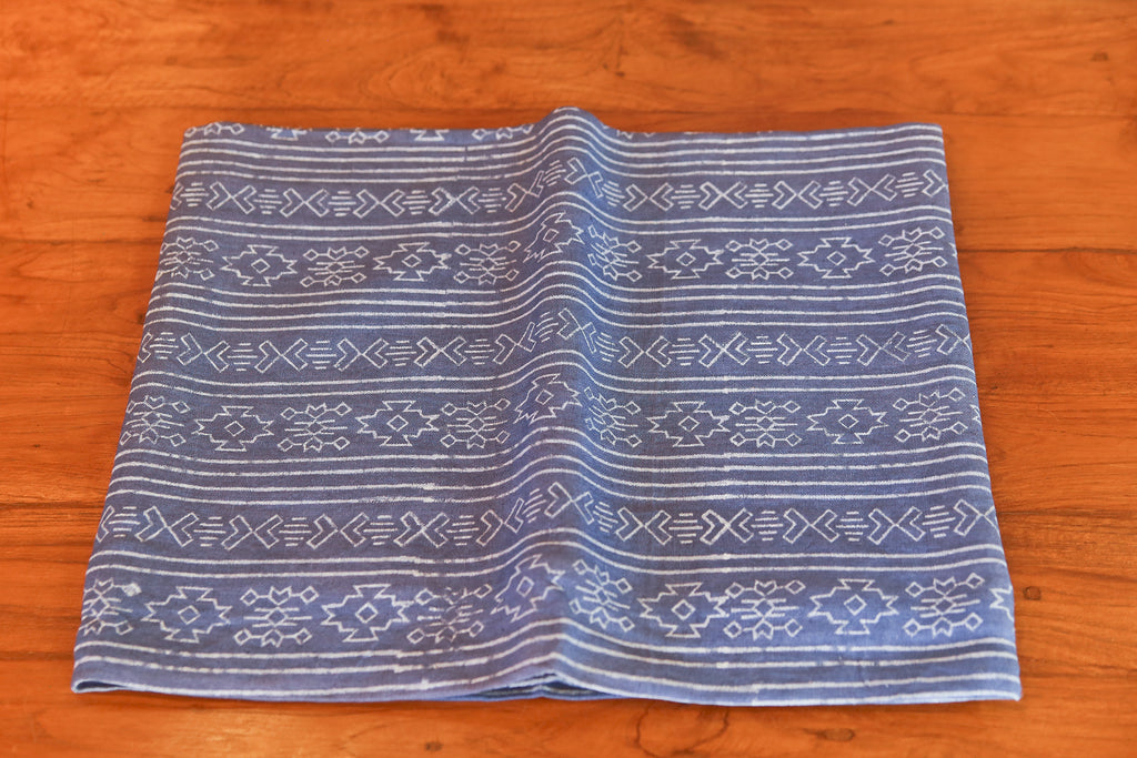 Blue Dusk Ohtli Aztec Print Throw
