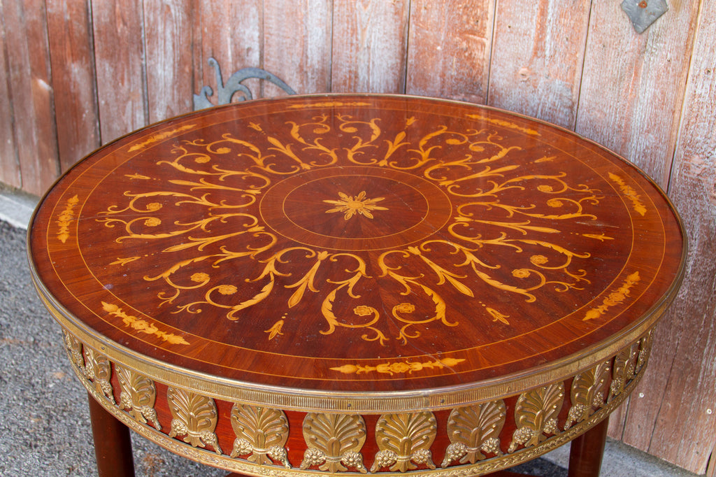 Stunning French Empire Style Round Table