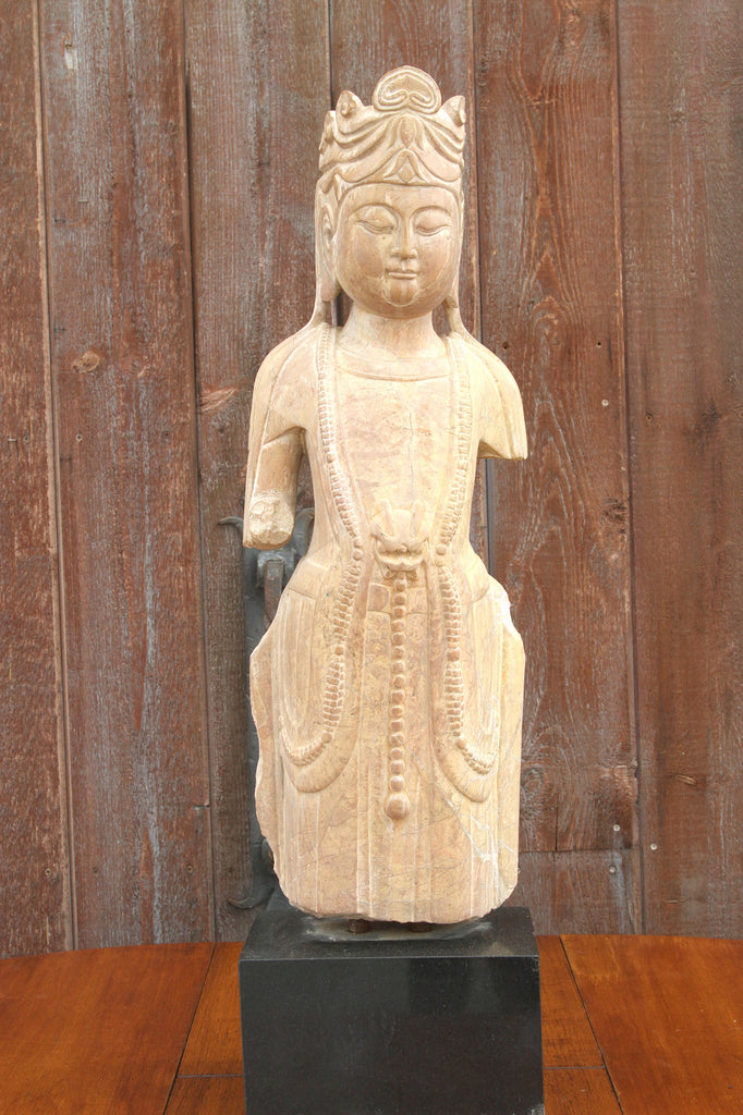 19th Century Chinese Stone Buddha