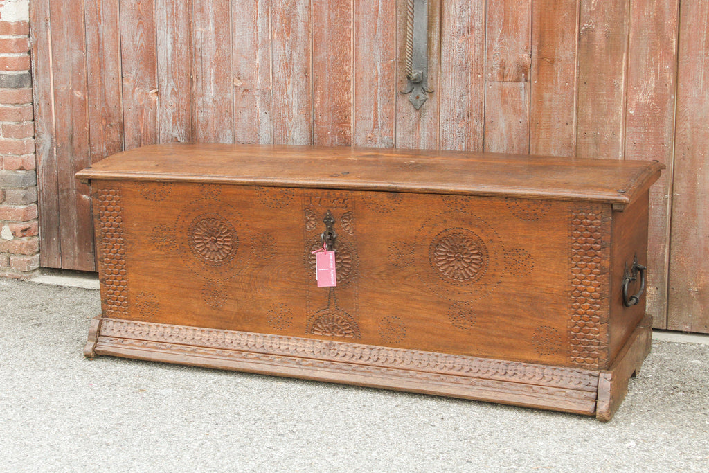 Circa 1755 Grand French Oak Blanket Chest
