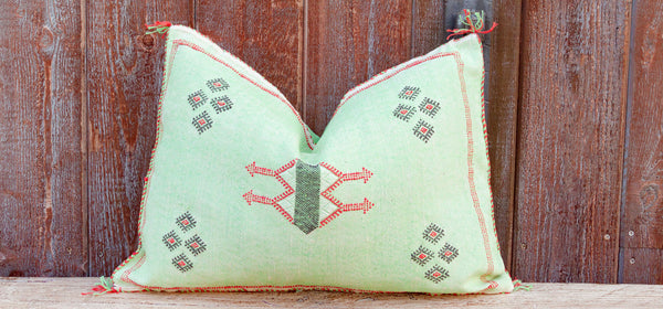 Binda Lumbar Moroccan Silk Rug Pillow