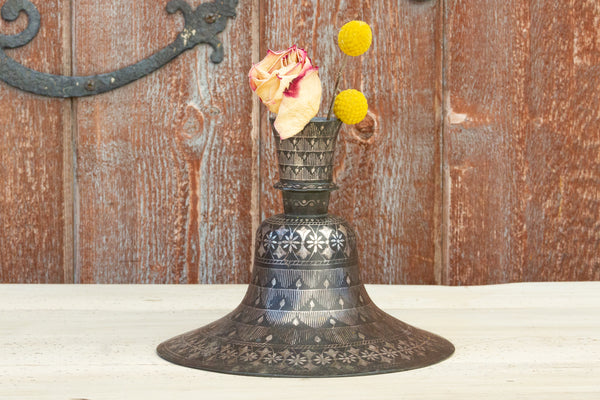 19th Century Indian Bidriware Flower Base