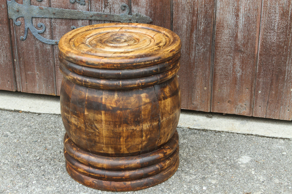 Handcrafted Turned African style side table